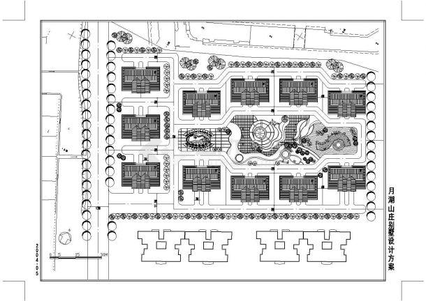苏州市东山景区某新建别墅区总平面规划设计CAD图纸-图一
