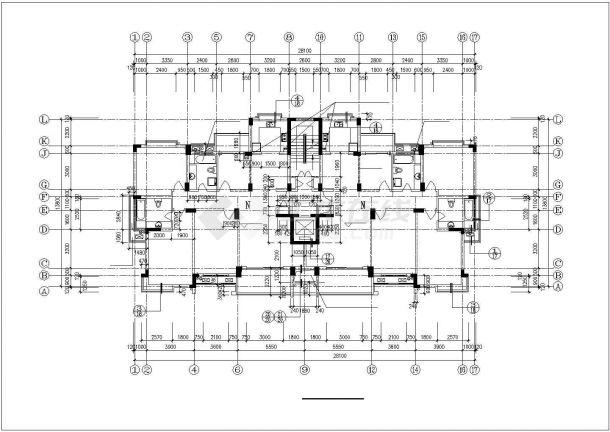 南通市兴福花园小区13层框架结构住宅楼全套建筑设计CAD图纸-图一