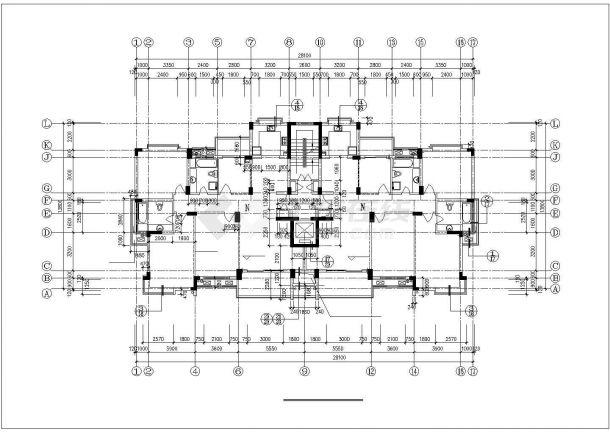 南通市兴福花园小区13层框架结构住宅楼全套建筑设计CAD图纸-图二
