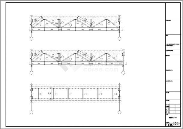 某工业区福联公司钢结构工程设计施工CAD图纸-图二