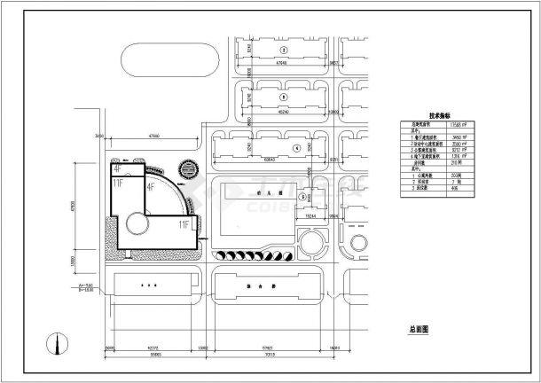 某高层综合办公楼全套建筑设计方案图-图一