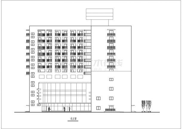 某高层综合办公楼全套建筑设计方案图-图二