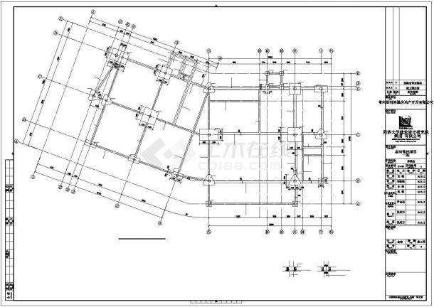 某售楼处钢结构建筑设计施工CAD图纸-图二