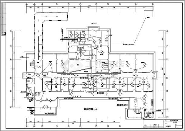 某地区解放军医院三层钢筋混凝土离开框架结构传染病房强电工程设计全套施工图(含电气设计说明)-图一