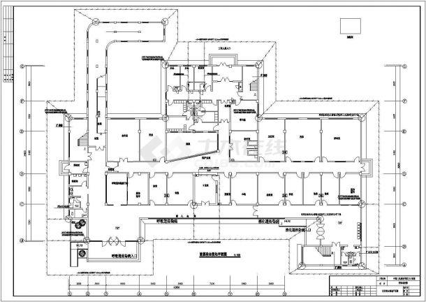 某地区解放军医院三层钢筋混凝土离开框架结构传染病房强电工程设计全套施工图(含电气设计说明)-图二