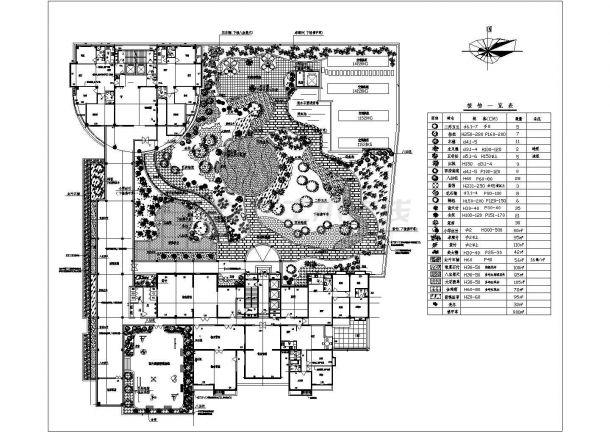 某商住楼屋顶小庭院景观设计施工CAD图纸-图一
