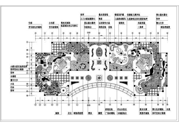 某商住楼屋顶花园景观设计施工CAD图纸-图一