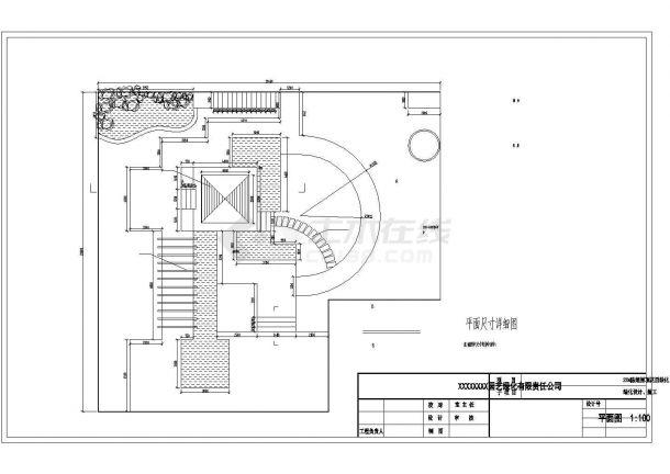 某高层屋顶花园绿化景观设计施工CAD图纸-图一
