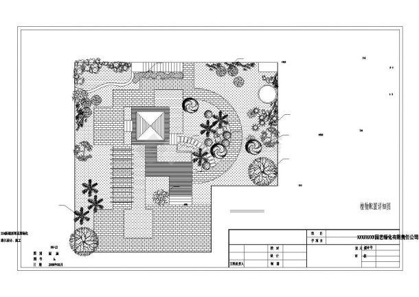 某高层屋顶花园绿化景观设计施工CAD图纸-图二