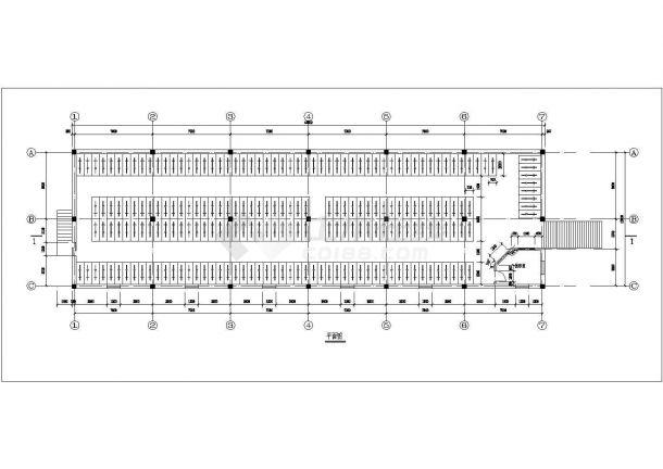 荆门自行车车棚建筑底商私人住宅楼设计CAD详细建筑施工图-图一