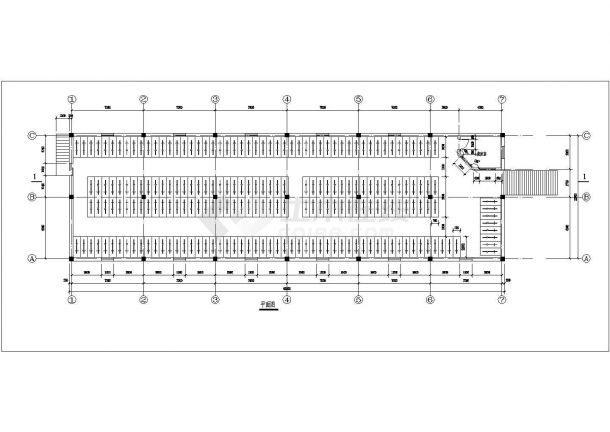 荆门自行车车棚建筑底商私人住宅楼设计CAD详细建筑施工图-图二