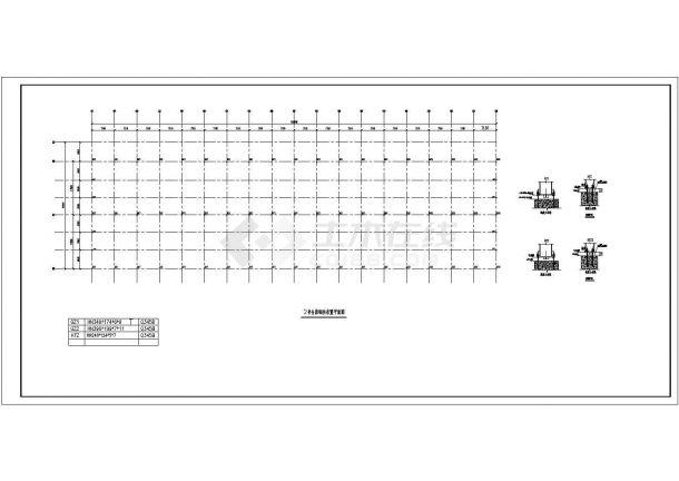 宿州34米跨钢结构物流仓库底商私人住宅楼设计CAD详细建筑施工图-图二