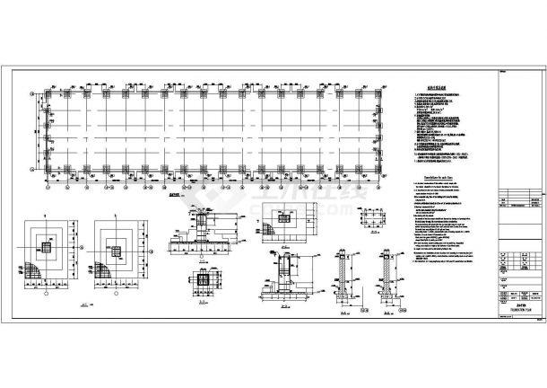 宿迁35米格构门式钢构底商私人住宅楼设计CAD详细建筑施工图-图二