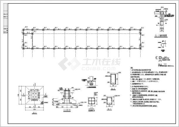 无锡长门式结构农场钢结构底商私人住宅楼设计CAD详细建筑施工图-图二