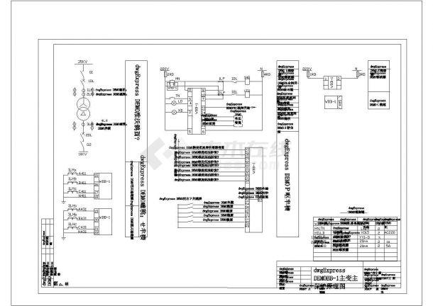 变压器保护线路cad图纸设计-图一