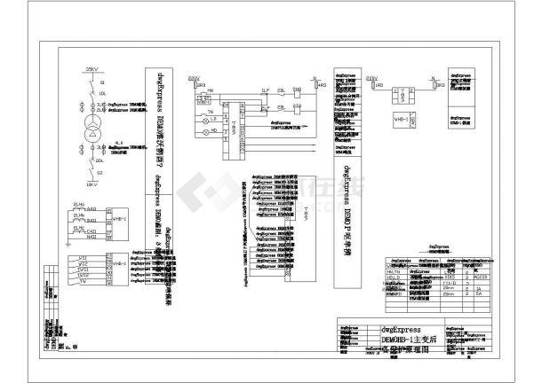 变压器保护线路cad图纸设计-图二