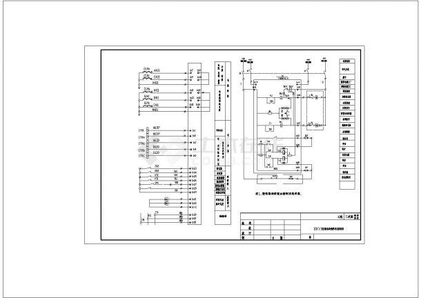 变压器出线保护单元原理cad图纸设计-图一