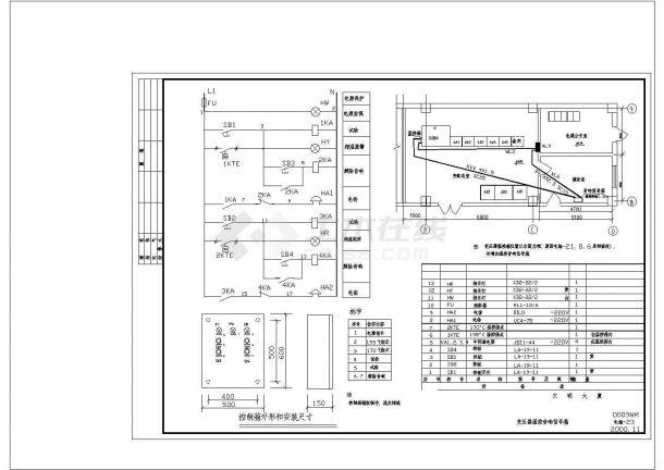 变压器信号箱原理接线cad图纸设计-图一