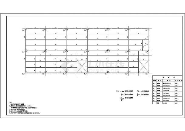 岭南顶层门式钢架底商私人住宅楼设计CAD详细建筑施工图-图一