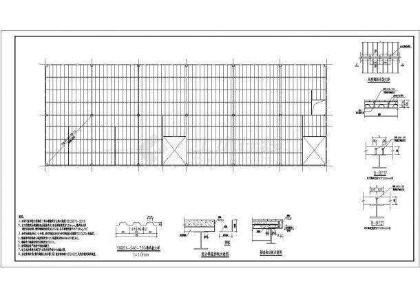 岭南顶层门式钢架底商私人住宅楼设计CAD详细建筑施工图-图二