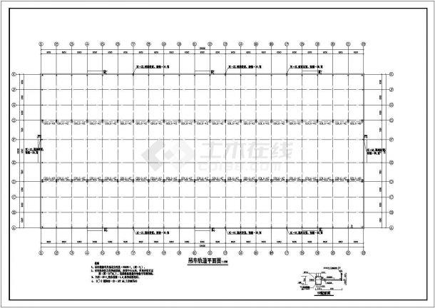 定西单层多跨门式钢结构轻型厂房设计全套施工cad图-图一