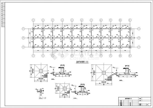 汉中多层钢框结构底商私人住宅楼设计CAD详细建筑施工图-图一