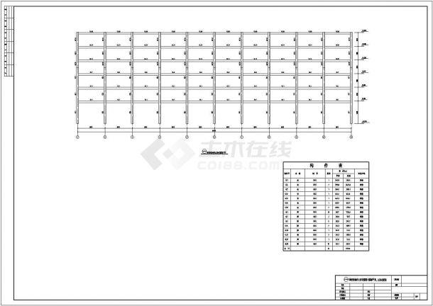 汉中多层钢框结构底商私人住宅楼设计CAD详细建筑施工图-图二