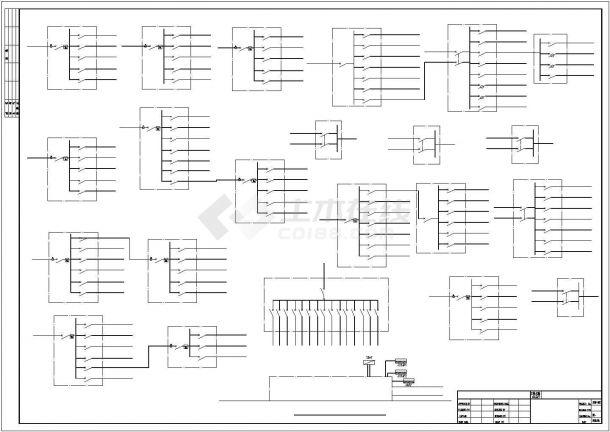 某工厂食堂配电系统设计平面cad图纸,共一份资料-图一