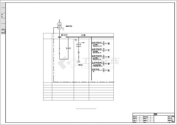 某工厂食堂配电系统设计平面cad图纸,共一份资料-图二