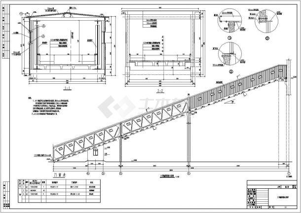 南充钢架及混凝土架底商私人住宅楼设计CAD详细建筑施工图-图二