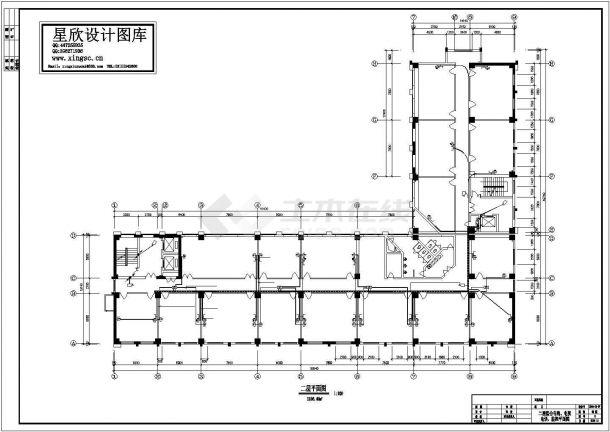 多层办公楼电气设计方案cad图纸,共一份资料-图二