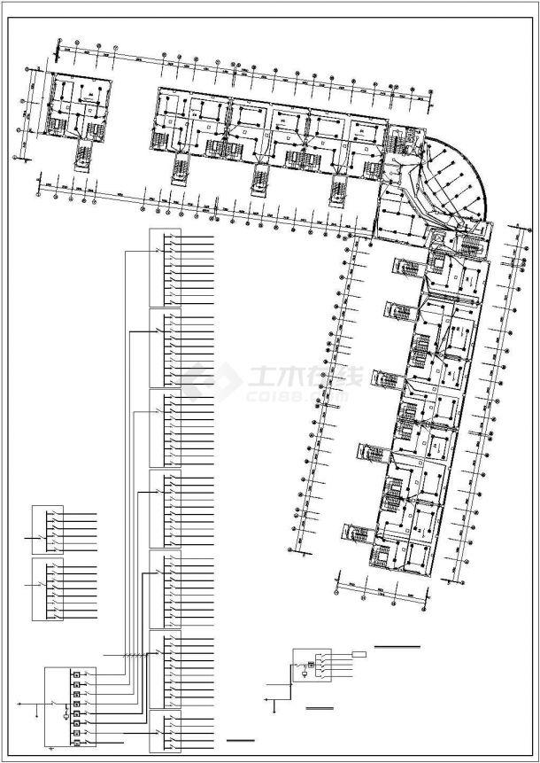 某地办公楼电气设计方案规划cad图纸,共一份资料-图二