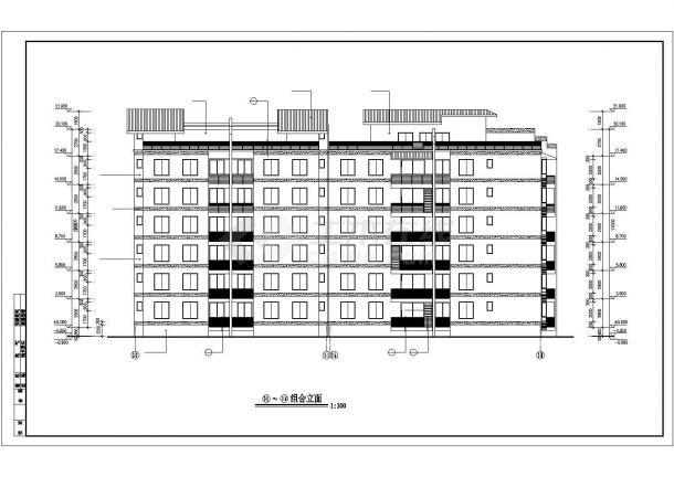 锦州市檀溪花园小区6层砖混结构住宅楼建筑结构设计CAD图纸(含跃层)-图一