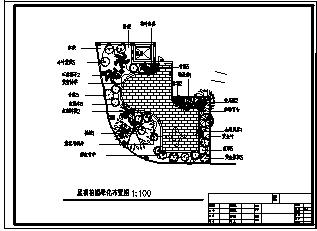 花园绿化设计_某市七楼酒店屋顶花园绿化设计cad图纸-图二