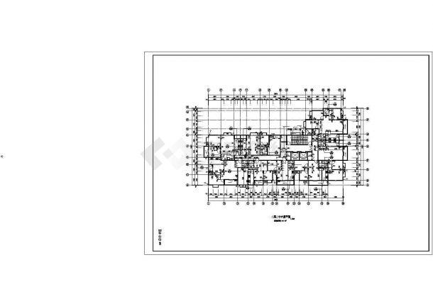 扬州市海馨嘉园小区1.6万平米25+1层框架结构住宅楼建筑设计CAD图纸-图一