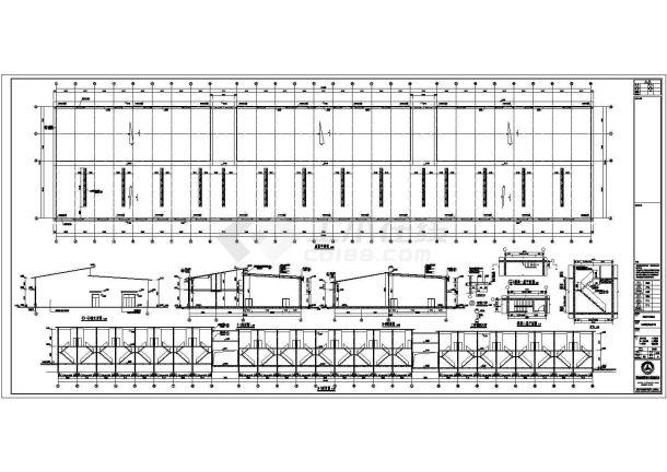 [株洲]某二层农贸市场建筑施工图.共八张-图一