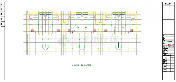[重庆]某休闲度假小区给排水施工图纸cad 图纸-图二