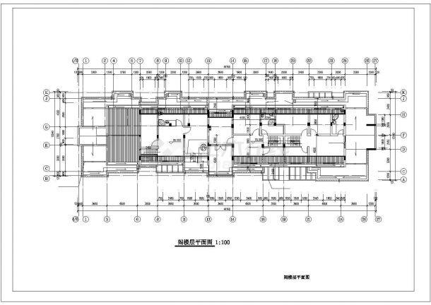 重庆市宏远小区6层砖混结构住宅楼建筑设计CAD图纸(含阁楼和架空层)-图一