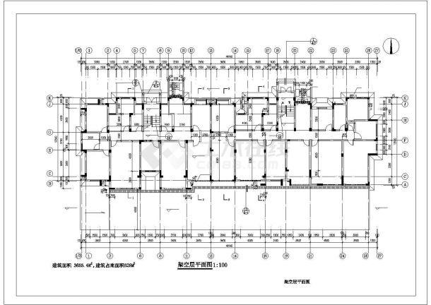 重庆市宏远小区6层砖混结构住宅楼建筑设计CAD图纸(含阁楼和架空层)-图二