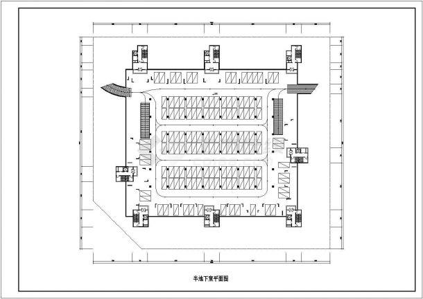 保定市叙康路某小区高层住宅楼局部平面设计CAD图纸(含户型图)-图一