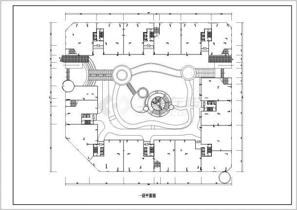 保定市叙康路某小区高层住宅楼局部平面设计CAD图纸(含户型图)-图二