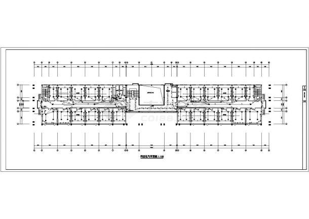 某地五层办公楼电气设计方案cad图纸,共一份资料-图二