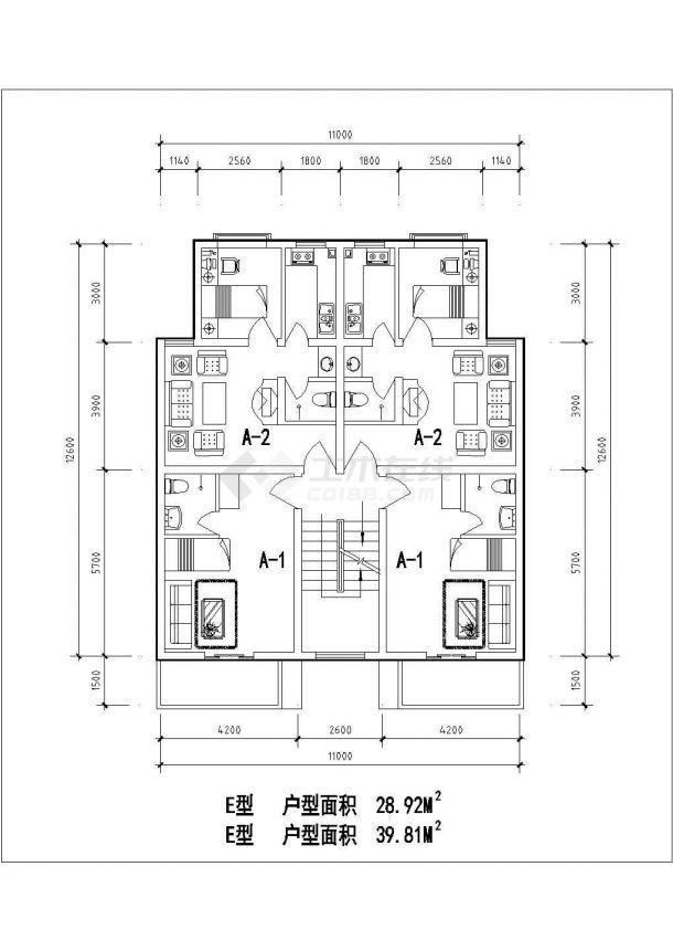 湘潭市金祥园小区经典热门的平面户型设计CAD图纸(7张)-图一
