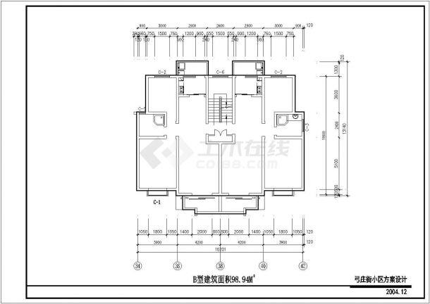 南宁市兴耀花园小区经典热门的平面户型设计CAD图纸(7张)-图一