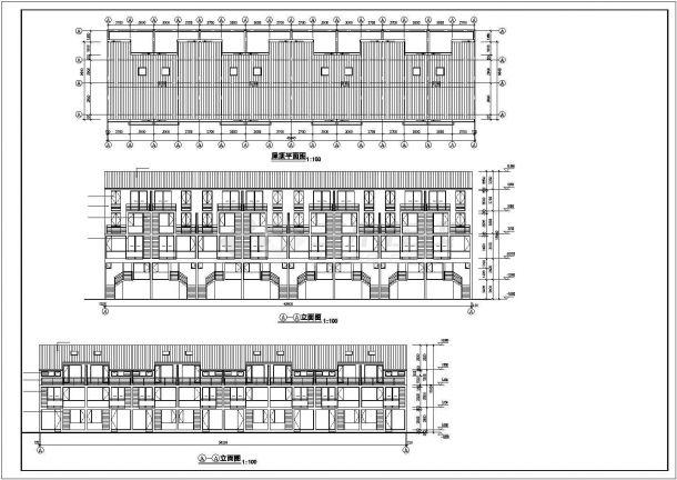 洛阳市嵩山花园小区3层砖混结构民居住宅楼建筑设计CAD图纸(含夹层)-图二
