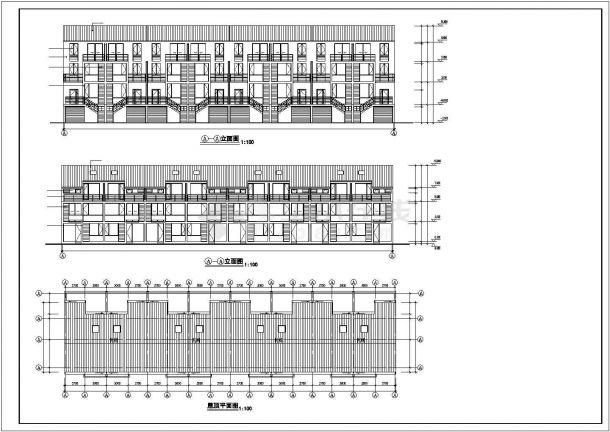 武汉市舜安花园小区3层砖混结构住宅楼全套建筑设计CAD图纸-图一