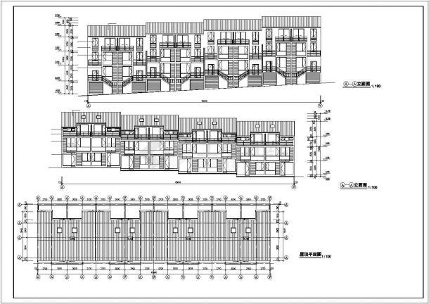 泉州市祥锦花园小区3层砖混结构住宅楼建筑设计CAD图纸-图一