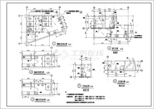 北京市广平花园小区26+2层剪力墙结构住宅楼建筑设计CAD图纸-图一