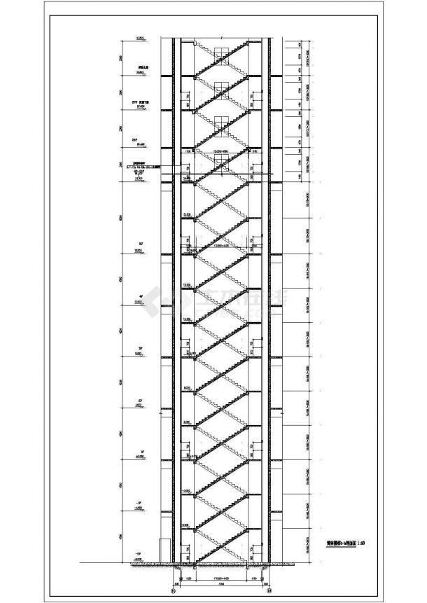 北京市广平花园小区26+2层剪力墙结构住宅楼建筑设计CAD图纸-图二