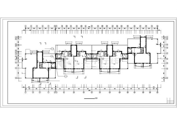 惠州市百慧花园小区6300平米7+1层框架结构住宅楼建筑设计CAD图纸-图一